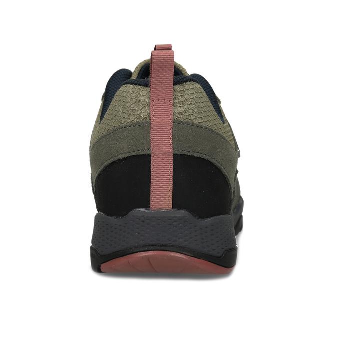 Pánské kožené khaki tenisky v outdoor stylu power, khaki, 803-3481 - 15