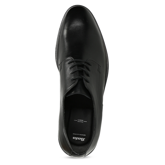 Pánské kožené černé derby polobotky bata, černá, 824-6680 - 17