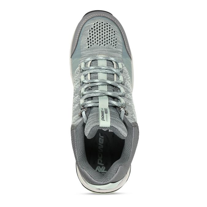 Dámské šedé tenisky s mint detaily v outdoor stylu power, šedá, 509-2566 - 17