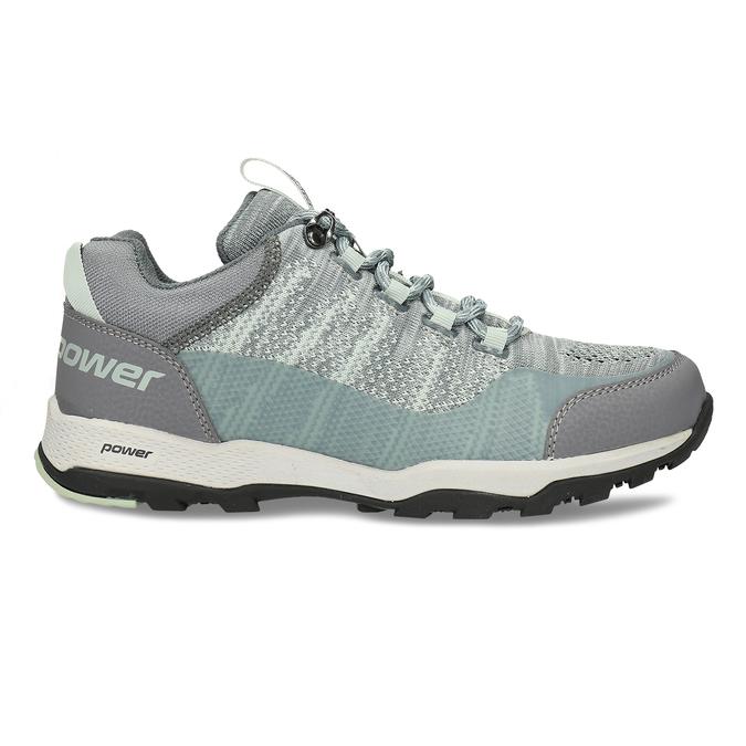Dámské šedé tenisky s mint detaily v outdoor stylu power, šedá, 509-2566 - 19