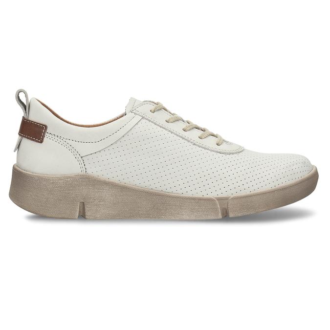 Bílé dámské kožené tenisky s perforací weinbrenner, bílá, 546-1601 - 19