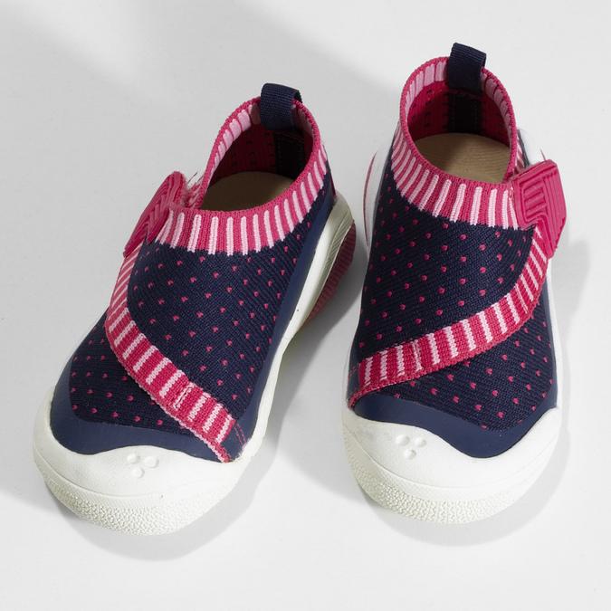 Modré dětské tenisky s růžovými detaily bubblegummers, modrá, 129-9604 - 16