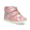 Růžové dětské kožené kotníčkové tenisky bubblegummers, růžová, 124-5611 - 13
