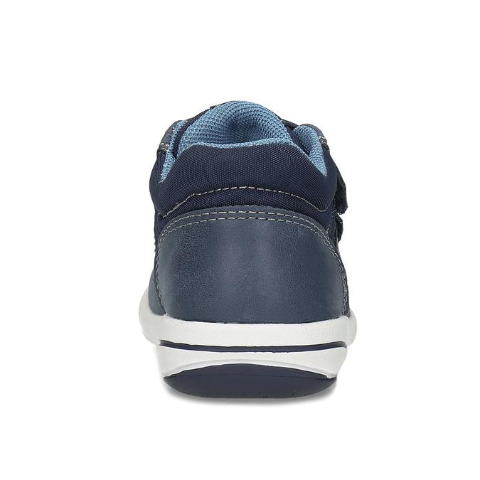 Dětská modrá kožená kotníčková obuv bubblegummers, modrá, 116-9618 - 15