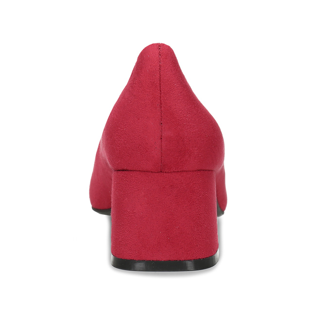 Červené lodičky na stabilním podpatku bata-red-label, červená, 621-5610 - 15