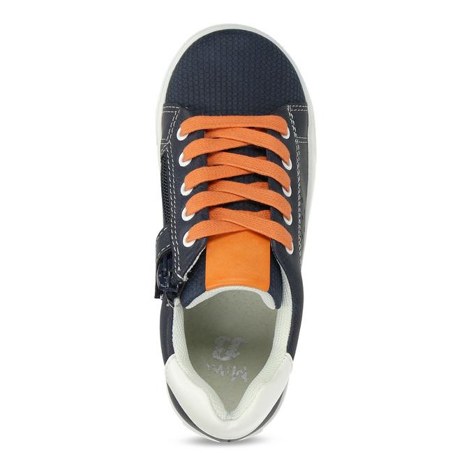 Modré dětské tenisky s oranžovými detaily mini-b, modrá, 211-9637 - 17