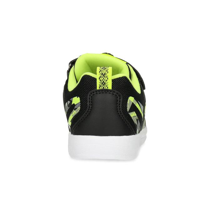 Černé dětské tenisky s neonovými detaily bubble-breathe, černá, 311-6607 - 15