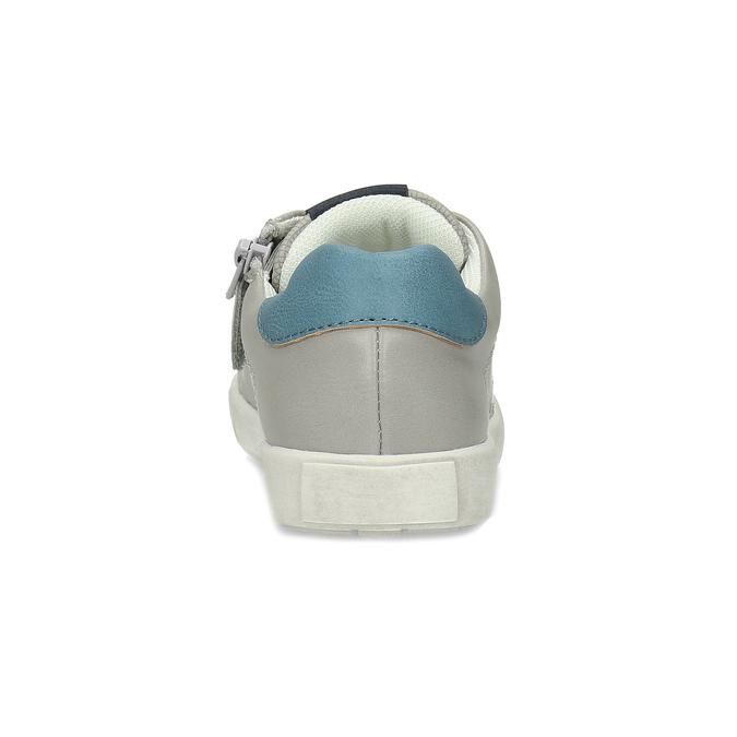Dětské šedé tenisky s modrými detaily mini-b, šedá, 211-2637 - 15