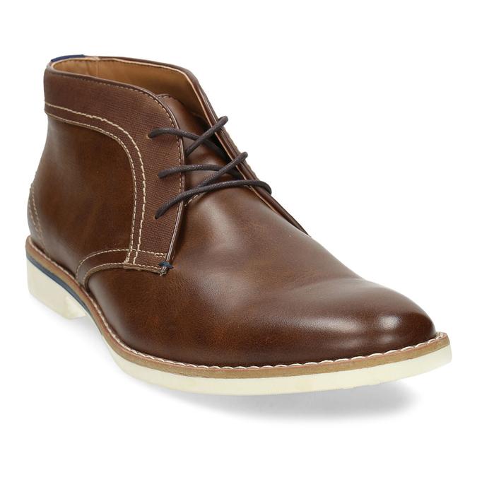 Pánské hnědé neformální kotníkové boty bata-red-label, hnědá, 821-4607 - 13