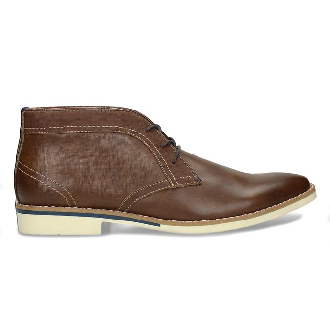 Pánské hnědé neformální kotníkové boty bata-red-label, hnědá, 821-4607 - 19