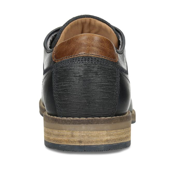 Pánské kožené tmavě modré polobotky bata, modrá, 826-9604 - 15