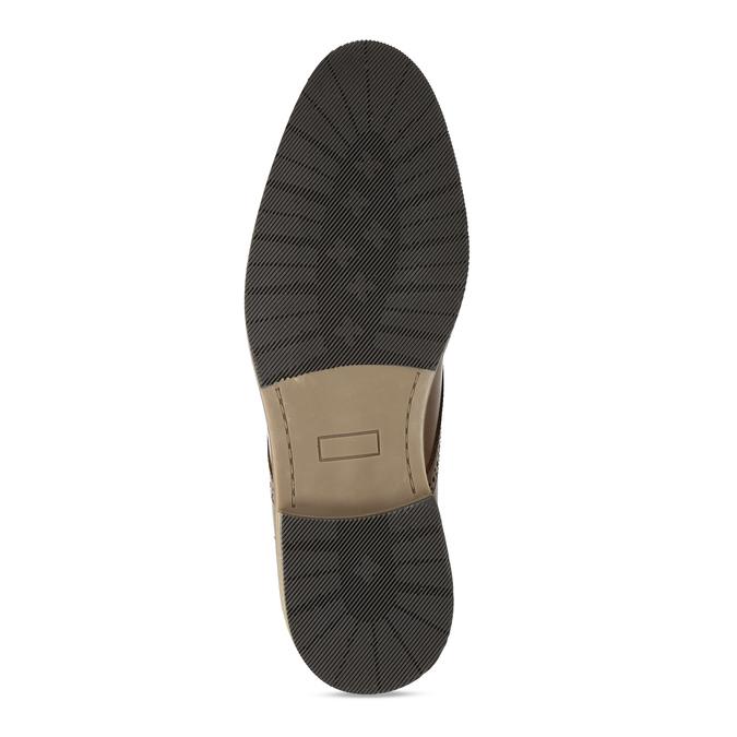 Pánské kožené hnědé neformální polobotky bata, hnědá, 826-3604 - 18