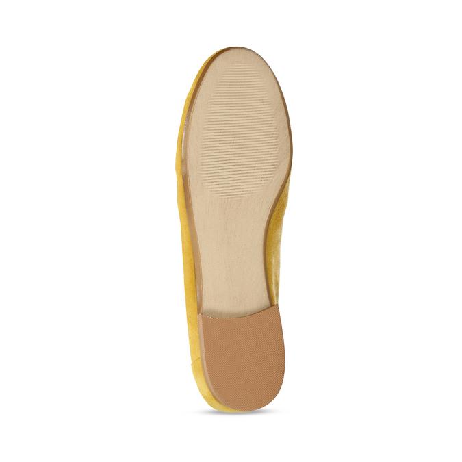 Žluté dámské mokasíny z broušené kůže bata, žlutá, 513-8601 - 18