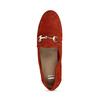 Dámské červené mokasíny z broušené kůže bata, červená, 513-5601 - 17