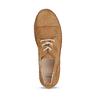 Hnědé dámské polobotky z broušené kůže bata, hnědá, 523-4606 - 17