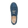 Dámské modré polobotky z broušené kůže bata, modrá, 523-9606 - 17