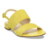 Dámské kožené žluté páskové sandály hogl, žlutá, 563-8102 - 13