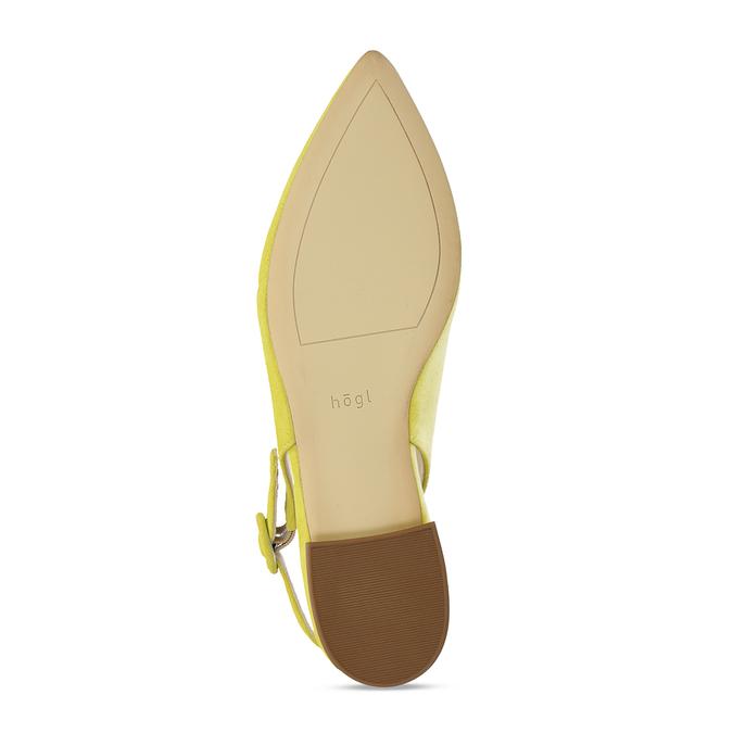 Dámské kožené žluté baleríny hogl, žlutá, 563-8101 - 18