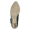 Dámské modré lodičky z broušené kůže bata, modrá, 626-9606 - 18