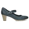 Dámské modré lodičky z broušené kůže bata, modrá, 626-9606 - 19