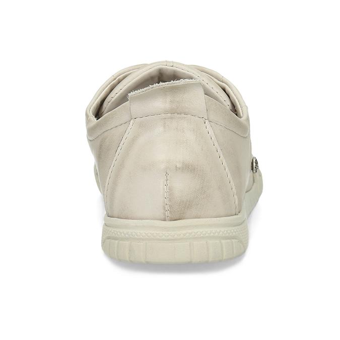 Dámské béžové kožené ležérní polobotky bata, béžová, 524-8603 - 15