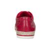 Červené dámské kožené tenisky s jutou bata, červená, 544-5604 - 15