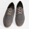 Pánské šedé polobotky z broušené kůže bata, šedá, 823-2609 - 16
