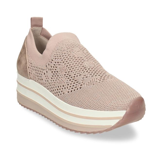 Dámské růžové slip-on tenisky bata-light, béžová, 531-8601 - 13