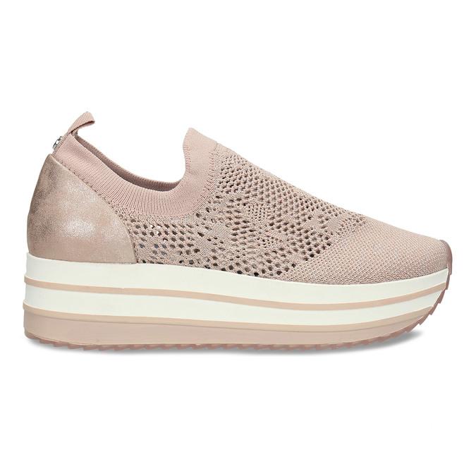 Dámské růžové slip-on tenisky bata-light, béžová, 531-8601 - 19