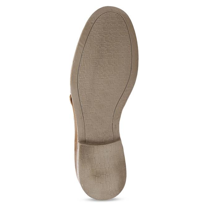 Hnědé dámské kožené derby polobotky bata, hnědá, 526-4607 - 18
