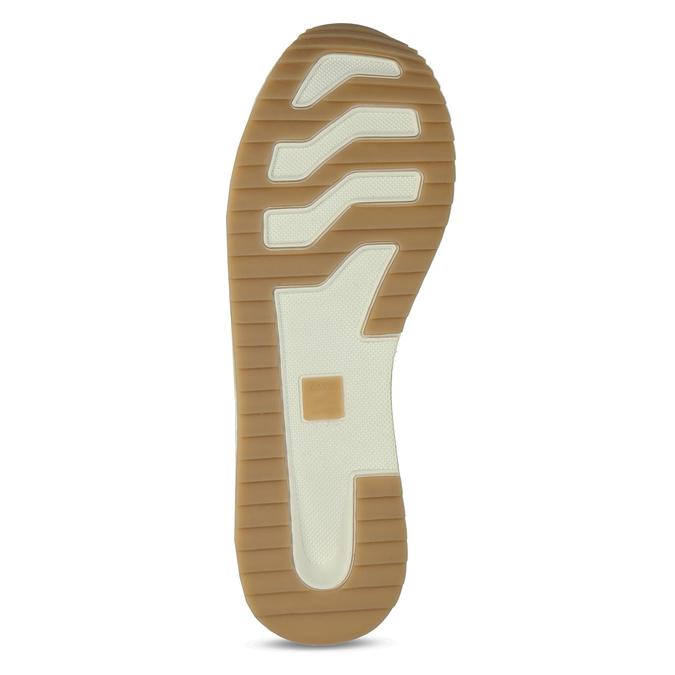Dámské tenisky na flatformě bílé bata-light, bílá, 541-1603 - 18