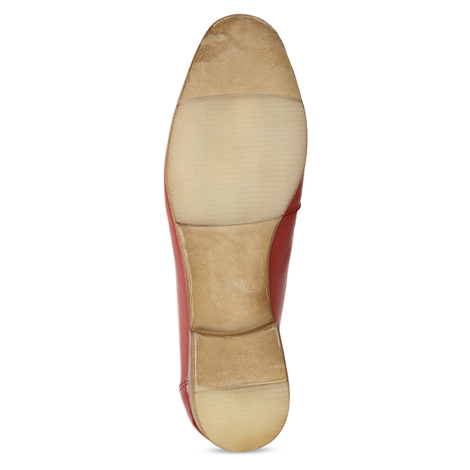Dámské kožené červené mokasíny bata, červená, 516-5606 - 18