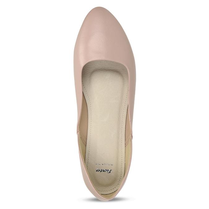 Dámské růžové baleríny bata, růžová, 521-5621 - 17