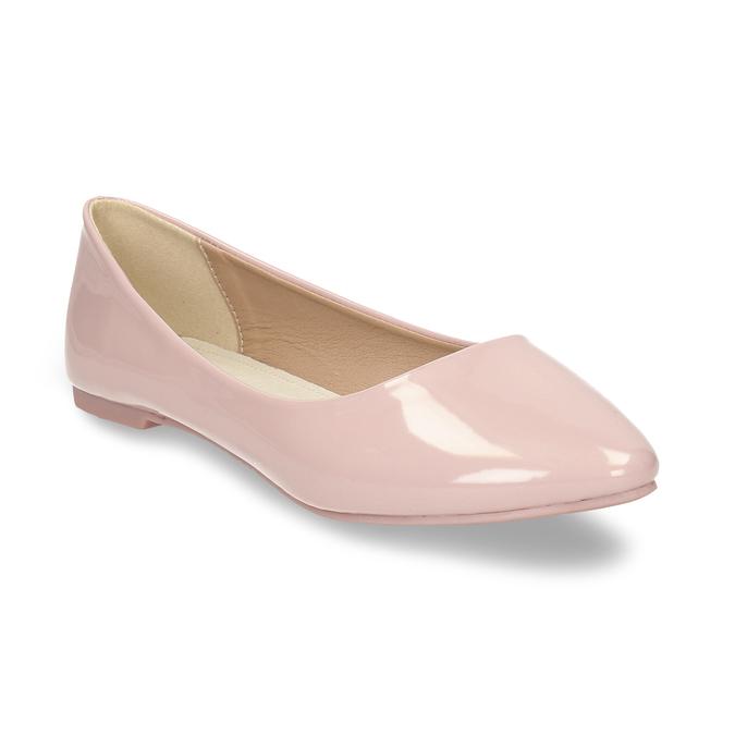 Dámské baleríny růžové bata, růžová, 521-5622 - 13
