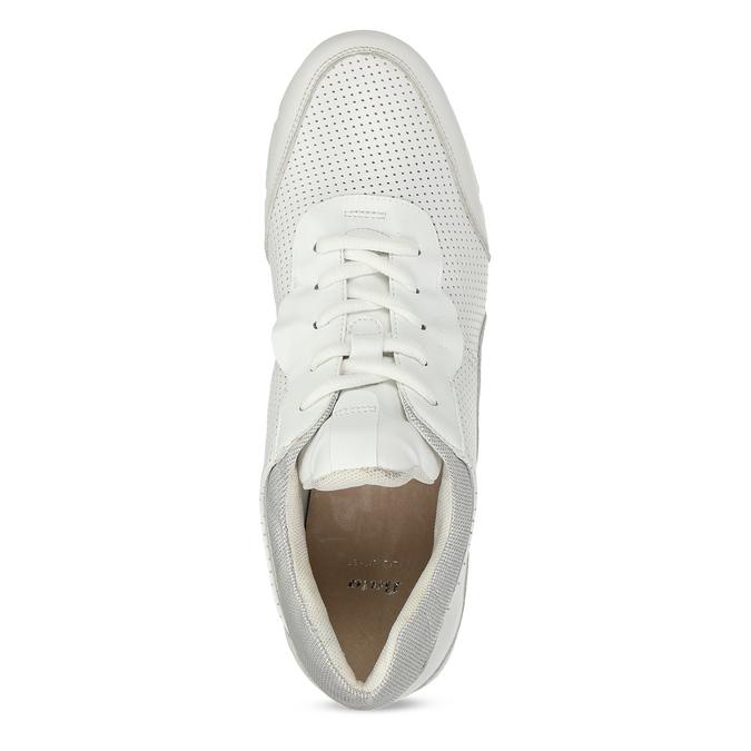 Dámské kožené bílé tenisky městského typu bata, bílá, 524-1609 - 17