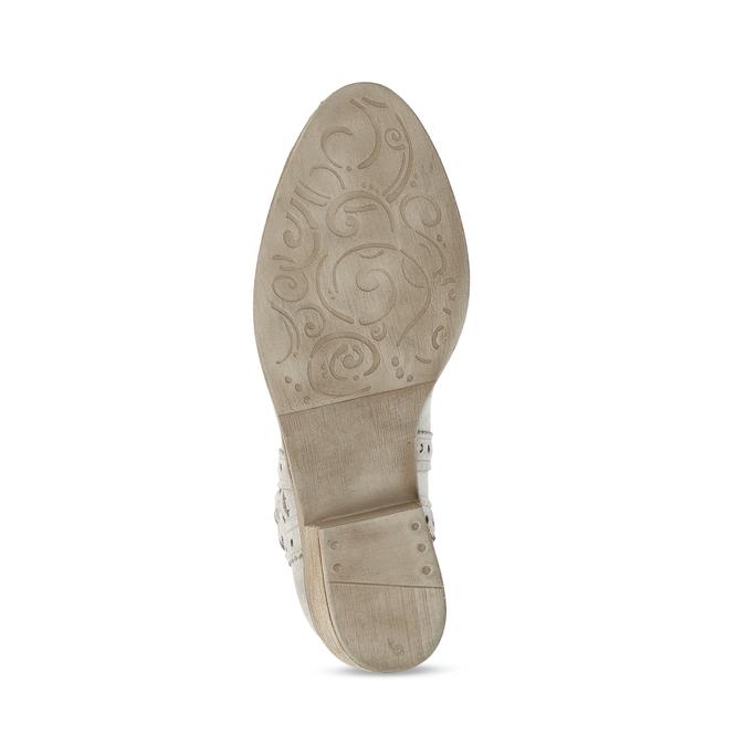 Kotníčkové šedé kozačky z broušené kůže bata, šedá, 593-8605 - 18