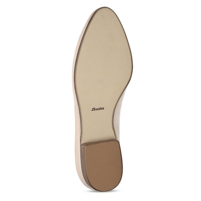 Dámské kožené béžové mokasíny se sponou bata, růžová, 514-5605 - 18