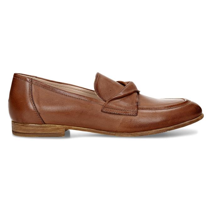 Dámské kožené hnědé mokasíny bata, hnědá, 516-4606 - 19