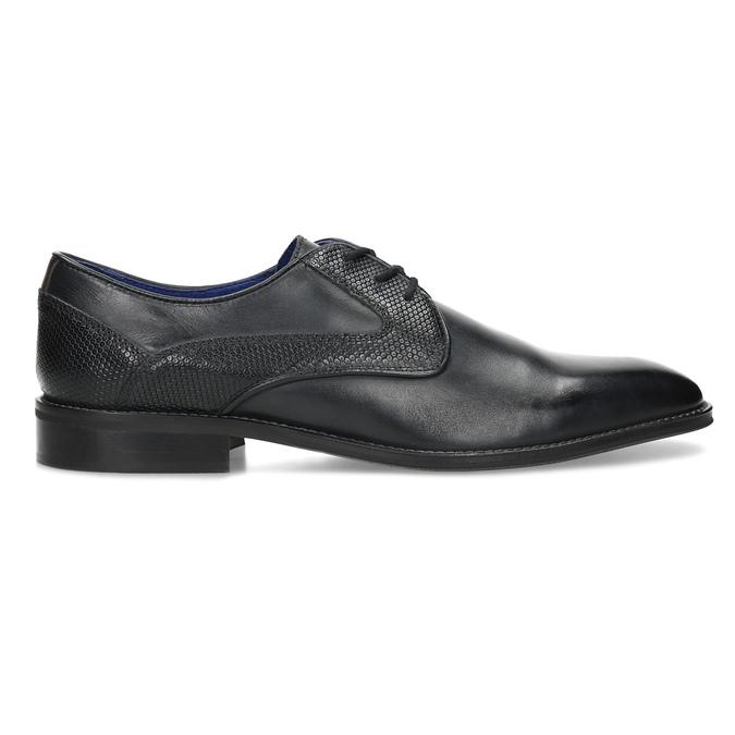 Černé pánské kožené Derby polobotky bata, černá, 824-6620 - 19
