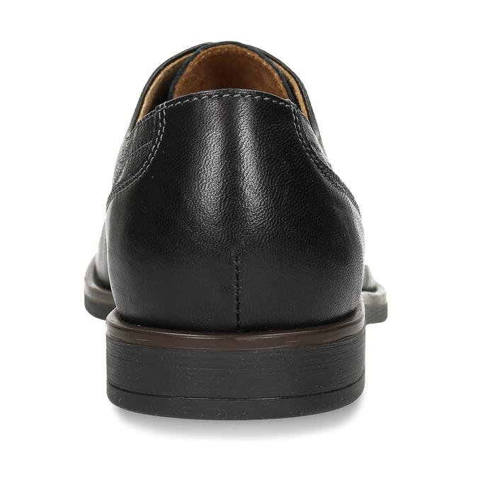 Kožené pánské černé polobotky bata, černá, 824-6693 - 15