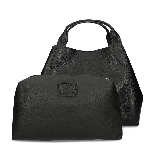 Černá kožená kabelka bata, černá, 964-6126 - 26