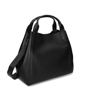 Černá kožená kabelka bata, černá, 964-6126 - 13
