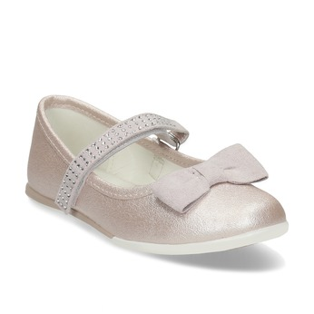 Dívčí baleríny na suchý zip růžové mini-b, růžová, 221-5161 - 13