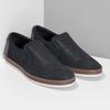 Modrá pánská kožená Slip-on obuv bata, modrá, 833-9608 - 26