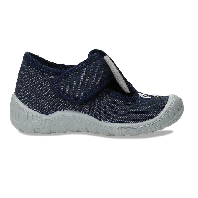 Modré dětské papuče s myškou mini-b, modrá, 179-9604 - 19