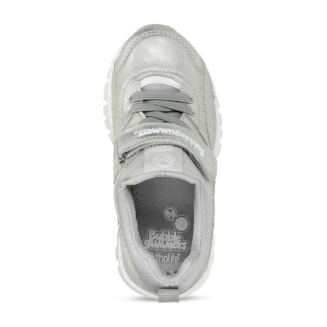 Stříbrné dívčí tenisky se suchým zipem bubblegummers, stříbrná, 321-1630 - 17