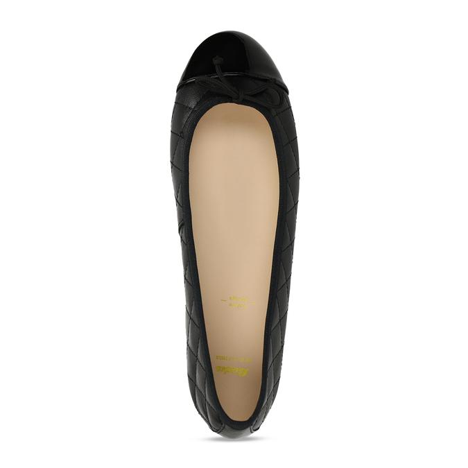 Černé dámské baleríny kožené bata, černá, 524-6626 - 17