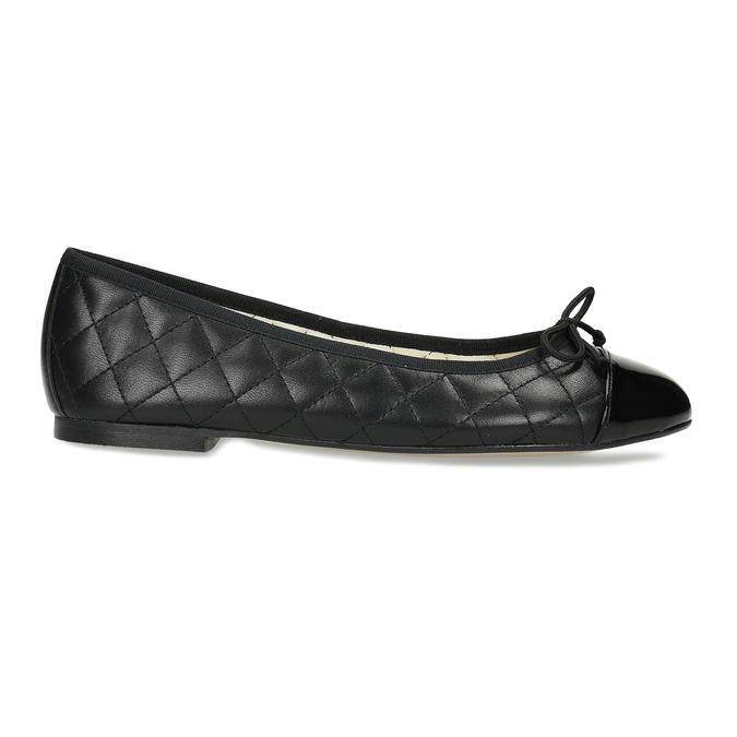 Černé dámské baleríny kožené bata, černá, 524-6626 - 19