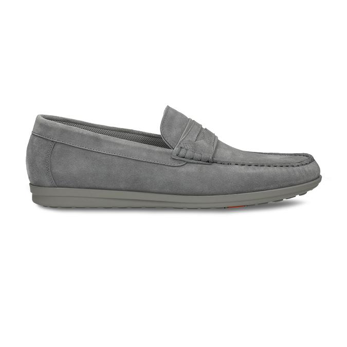 Pánské šedé kožené mokasíny flexible, šedá, 853-2620 - 19