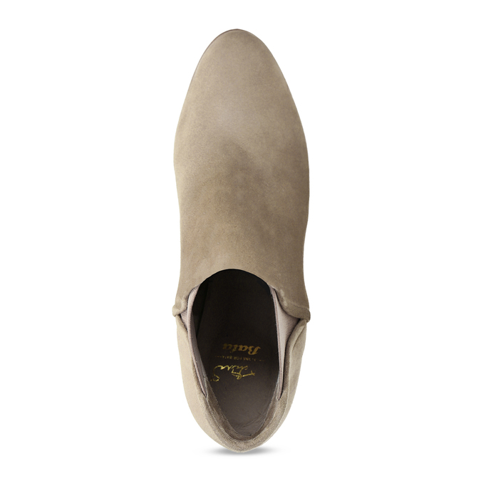 Béžová dámská kožená Chelsea obuv bata, hnědá, 693-4601 - 17